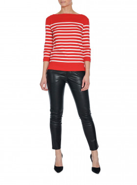 BY MALENE BIRGER TOP LOUSIU BRIGHT RED