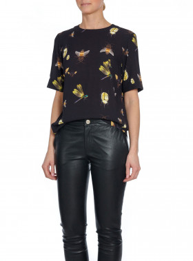 AHLVAR GALLERY BLUS MIVY INSECT BLOUSE WASHED BLACK