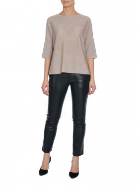 CATHRINE HAMMEL TOP WIDE TAUPE MELANGE