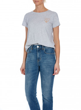ODD MOLLY TOP GRAPHICTUDE LIGHT GREY MELANGE