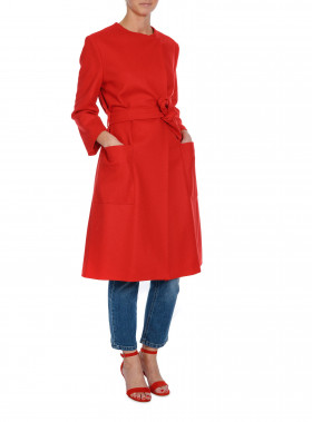 FILIPPA K KAPPA BLAIR BELT COAT ROUGE