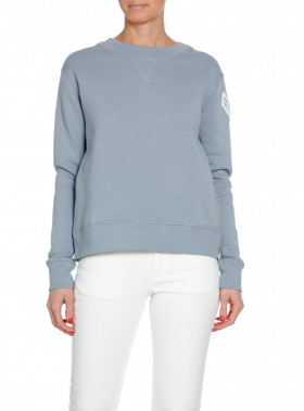 HUNKYDORY SWEATSHIRT MAE FLEECE DOVE BLUE