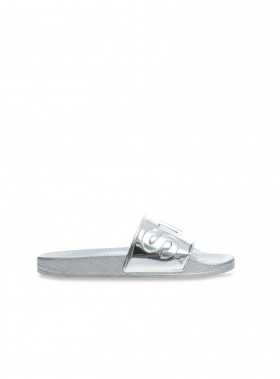 SUPERGA SLIPPER 1908 PUMETU GREY SILVER