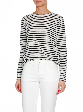 DAGMAR TOP JADA OFF WHITE/BLACK STRIPE