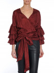 HUNKYDORY TOP ROSE WRAP PLUM WINE