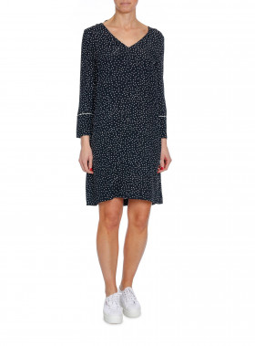 MORRIS LADY KLÄNNING ÉVE PRINT DRESS BLACK