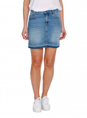 LEXINGTON KJOL ALEXA DENIM SKIRT BLUE DENIM