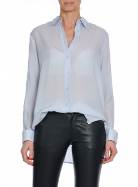 FILIPPA K BLUS HIGH-LOW TENCEL SHIRT SKYLI