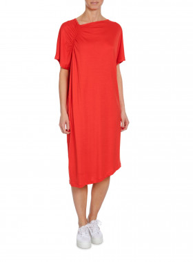 FILIPPA K KLÄNNING SMOCK T-SHIRT DRESS POPPY