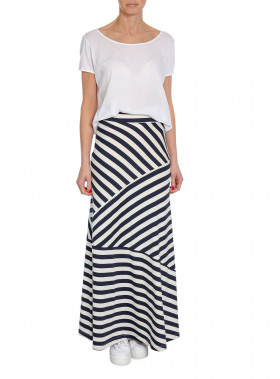 LEXINGTON KJOL JOELLE JERSEY SKIRT BLUE/WHITE STRIPE