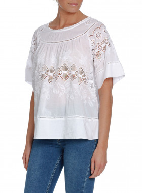 HUNKYDORY BLUS HOLY-SHIRT PURE WHITE