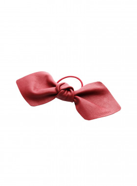 CORINNE HÅRBAND LEATHER BOWTIE BIG RED