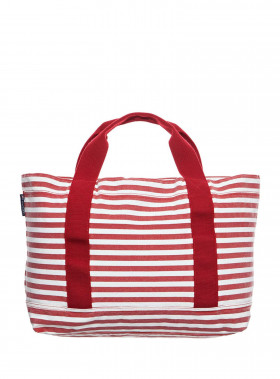 LEXINGTON VÄSKA PACIFIC TOTE BAG WHITE/RED STRIPE