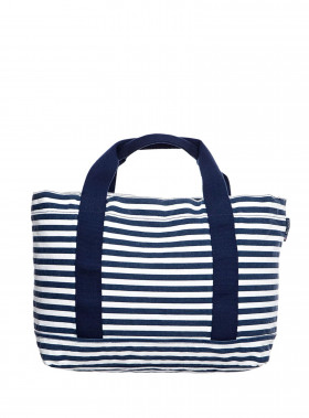 LEXINGTON VÄSKA PACIFIC TOTE BAG WHITE/BLUE STRIPE