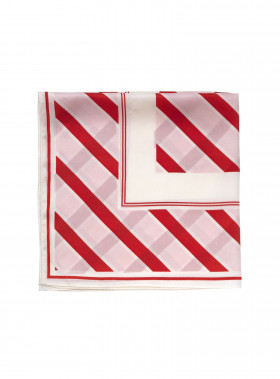 NOTES DU NORD SCARF HOME STRIPE, STRAWBERRY STRIPE