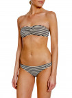 TOTÊME BIKINI TOP ROYAN DARK NAVY STRIPE