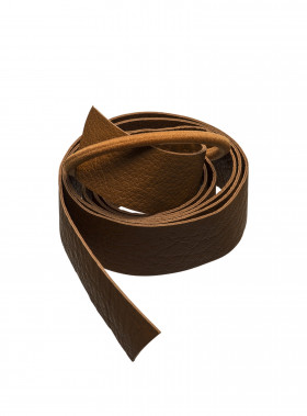 CORINNE HÅRBAND LEATHER LONG COGNAC