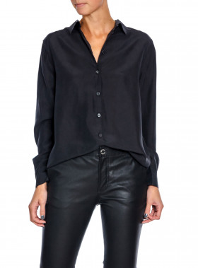 WHYRED BLUS KAROLINA WASHED SILK BLACK