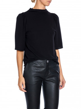 FILIPPA K TOP COTTON CREPE BLACK