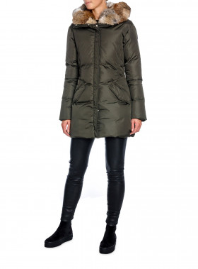 LEMPELIUS JACKA DOWN COAT DARK GREEN