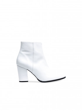 HENRY KOLE BOOTS BELLE LEATHER WHITE