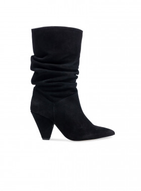 HENRY KOLE BOOTS GIA BLACK SUEDE