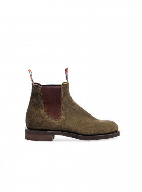 R.M. WILLIAMS BOOTS GARDENER G SUEDE BROWNEL KHAKI