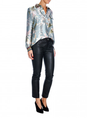 BY MALINA NICOLINA SHIRT BLUE JUNGLE