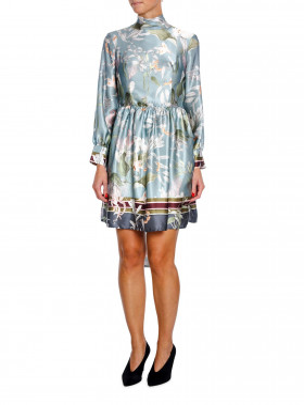BY MALINA KIA DRESS BLUE JUNGLE
