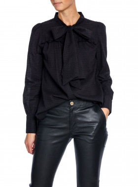LEXINGTON BLUS JANINA DOBBY CAVIAR BLACK