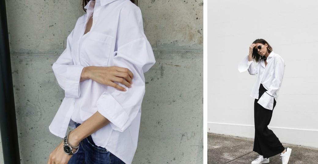 The crispy white shirt